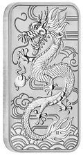 Australien 1 Dollar 2018 Drache Dragon Rechteck Barren Münze 1 Oz. Silber ST