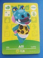 036 Alli Animal Crossing Amiibo Card Single - Series 1 Near Mint US Version