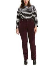 Levi's Women's 20w Plus Size Straight-Leg Corduroy Jeans, Maroon, NwT