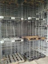 Gitterboxen für Schrott, Müll, Gitterbox, Lagerbox, Brennholz Stapelbox Kiste