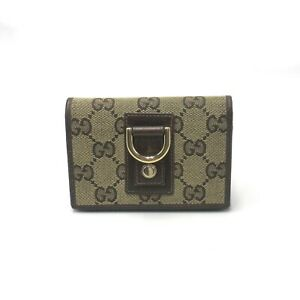 GUCCI Card Case Card Case Card Case 141417 GG canvas Brown Used mens