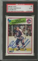Dale Hawerchuk 1988 Topps Autograph #65 SGC Jets