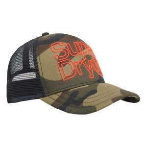 Superdry NEW Mens Lineman Trucker Cap - Green Camo BNWT