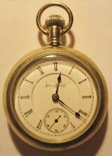 Jewel 2 Tone Pocket Watch Illinois 18 size The Railroader 17