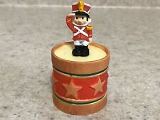 Hallmark 1985 Christmas Merry Miniature Soldier on Drum Container with Sticker