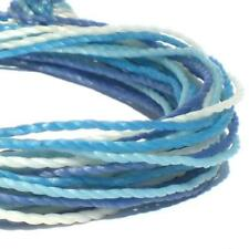BLUE AND WHITE MULTICOLOURED THREAD FRIENDSHIP BRACELET WRAP STRAP