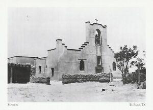 "*Texas Postcard-""Mission/Senora Limpia Concepcion Del Socorro"" *El Paso"
