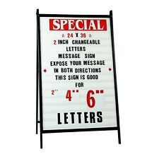 A Frame Sidewalk Signs Changeable Letters Message Outdoor Sign W 2 Letters Set