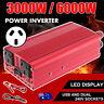 3000W/6000W Modified Sine Wave 12V/240V Power Inverter Car Caravan Boat 2AC P0