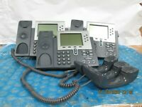 LOT OF 3 Cisco 7961 CP-7961G VoIP IP Business Phone with Stand