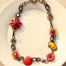 """New 30"""" Lucky Brand Charms Statement Necklace Gift Vintage Women Holiday Jewelry"""
