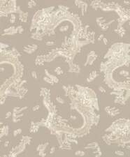 BARBARA Home Collection Wallpaper China dragon taupe white 527933 (3,11£/1qm)