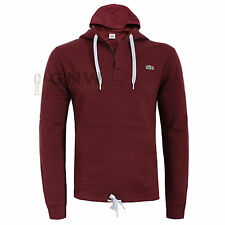 LACOSTE SMALL CROC MEN'S PULL OVER HOODIE, SWEATER SH3344 MAROON New Was £90.00