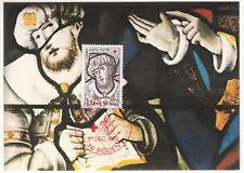 CARTE MAXIMUM FDC 1979 TIMBRE N° 2071 EGLISE JEANNE D ARC ROUEN VITRAIL