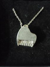 """Piano TG2 Pewter On 16"""" Silver Plated Curb Necklace"""