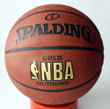 RARE SPALDING GOLD NBA OUTDOOR BASKETBALL BALL SIZE 7 NEW NOS !