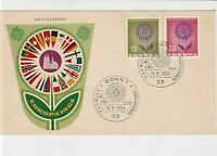 germany 1964 europa stamps cover ref 20254
