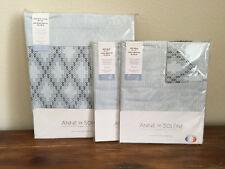 Anne de Solene Opera 3 Pc King Duvet Cover Pillow Shams Set Blue
