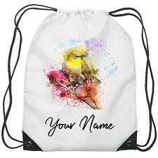 Personalised Bird Gym Bag PE Dance Sports School Swim Bag Waterproof
