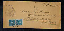 1899 Lorenzo Marques Mozambique Electric Company cover to Paris France