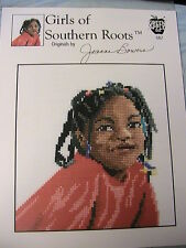 GIRLS OF SOUTHERN ROOTS~GIRL WITH BRAIDS~2001~#682 *RARE OOP~cross stitch graph