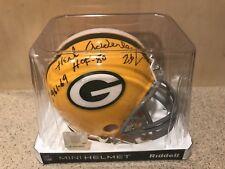 Herb Adderley Signed Green Bay Packers NFL Mini Helmet W/ Inscriptions & JSA COA