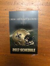 New Orleans Saints 2017 Pocket Schedule