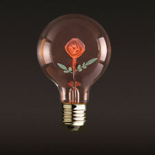 E27 3W Edison Rose Flower Filament Incandescent Light Bulb Wedding Decor Lamp