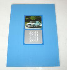 Prospekt / Broschüre Mercedes-Benz W 123 Limousine Diesel - 200 D, 220 D, 300 D!