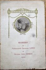 Menu: 1927 French Wedding w/Wine - Bordeaux Graves/Mercurey Bourgogne, Champagne