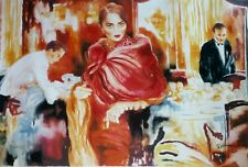 """JOANNA ZJAWINSKA """"Ask Me Would I Say Yes"""" 1990 HAND SIGNED 1/250 !! XXL 34""""x 54"""""""