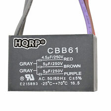 HQRP Capacitor para Hampton Bay 4.5uf+5uf+5uf, 5-Alambres / CBB61 Reemplazo