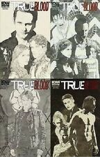 1:10 sketch variant set (4) TRUE BLOOD ONGOING #1 2 3 4 IDW COMIC 2012 hbo tv NM