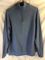LL Bean Men's Blue M Quarter Zip Pullover Sweatshirt Jacket Sweater