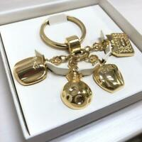 Christian Dior Perfume Bottle Charm Key Ring Gold in Box Not sold in stores New