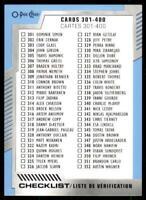 2020-21 UD O-Pee-Chee Blue Border #400 Checklist Blank Back Card - None