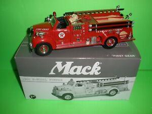 TEXACO 1960 MACK B-MODEL PUMPER FIRE CHIEF DIECAST 1:34th FIRST GEAR #19-2249