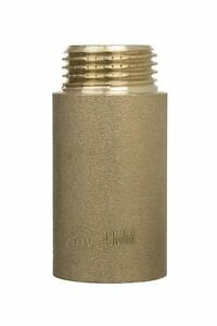 """3/4"""" BSP (22mm) Pipe Thread Extension Female x Male Cast Iron Brass 10-60mm Long"""