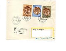 VATICANO 1963 - NATALE - FDC RACCOMANDATA VIAGGIATA