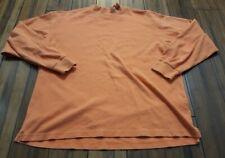 Beretta Men's Long Sleeve Orange 100% Cotton Pullover Shirt size XL