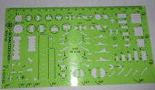 DDR  Plaste Schablone Zeichnen  Schaltzeichen   ++ unbenutzt