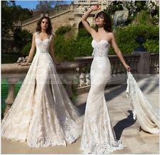 Mermaid Wedding Dress with Long Detachable Train Vestido de novia  Bridal Gowns