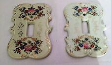 2 Light Switch Plates LEFTON S7310 & Joske's Porcelain Floral Trim / Single