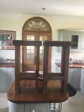 Rustic Solid Wood Breakfast Bar Under Counter Seats, Rarely Used