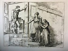 Bartolomeo PINELLI (1781-1835) d'après Giuseppe Berneri estampe Italie XIXe d