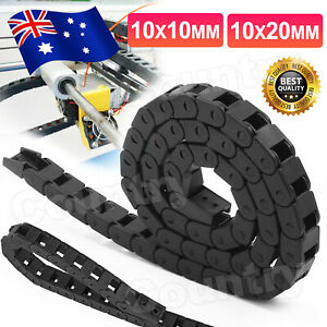 Nylon Towline Cable Drag Chain Wire Protect Carrier CNC R28 10*10 10*20MM 1M