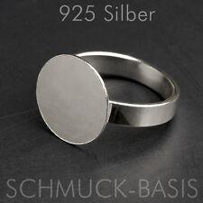 925 Silber Ringrohling variable Größe; mit Ronde (12 mm) !