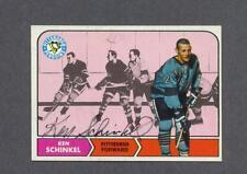 Ken Schinkel signed Pittsburgh Penquins 1968-69 Topps hockey card