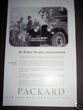 PACKARD Car Automobile DECO vintage 1926 Ad