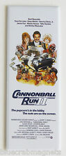 Cannonball Run 2 FRIDGE MAGNET (1.5 x 4.5 inches) insert movie poster